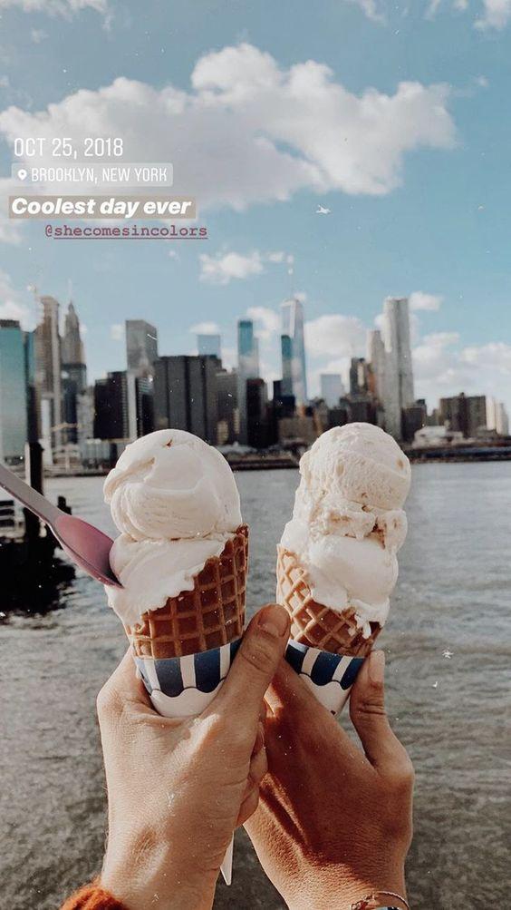 foto tumblr de par de helados
